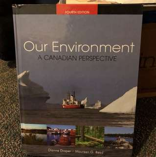 GEOG*2210 Our Environment: A Canadian Perspective, 4th edition