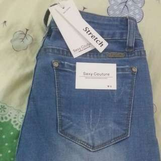 Stretch sexy couture jeans size 28 for girl