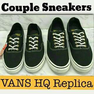 🎄 Couple Sneakers Parade  🎁 Great Gift Idea   *Php2,000 only ➡ Couple Sneakers  *Php1,000 only ➡ per pair   VANS BASICS SNEAKERS  📍Replica, High Quality, Made in Vietnam  📍Pre-order