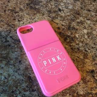 PINK iphone 7 silicon phone case