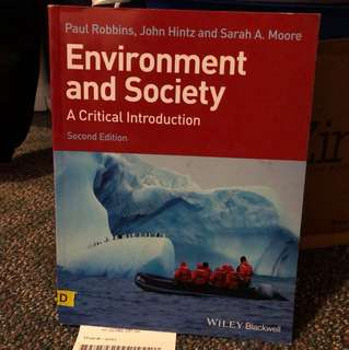 GEOG*2210 DE Environment and Society: A Critical Introduction, 2nd edition