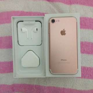 Iphone7 128G 玫瑰金 99%新 全套配件