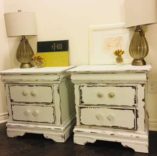 Two vintage style nightstand