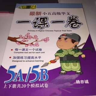 P5 Higher Chinese assessment book