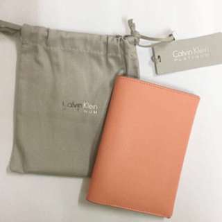 Calvin Klein CK 真皮Passport case 護照套 Passport Cover 旅行 外遊必備 名牌 luxury