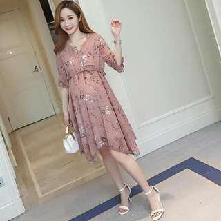 Chiffon Maternity Dress