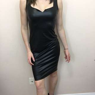 Pleather cocktail dress size S
