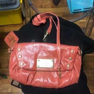 Salad leather clutch bag/shoulder bag 皮手袋