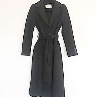 Aritzia Babaton Ankle length Wool/Cashmere black trench coat XS