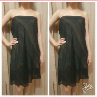 Black with inner dress