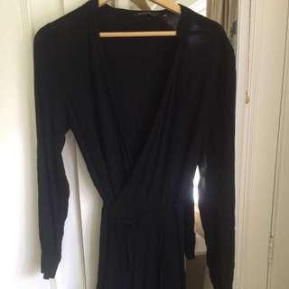 Glassons Wrap Dress Black