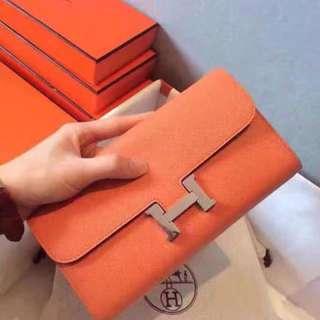 橙色錢包手包