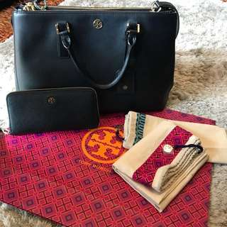 SALE!!! 19,500 Tory Burch Robinson Double-zip 2-way Bag with Wallet