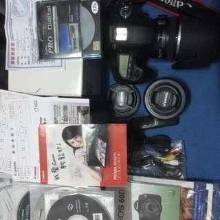 公司貨Canon60D+17-55mm鏡皇+50mm人像鏡