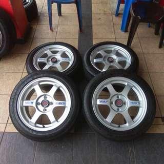 Te37 15 inch sports rim myvi tayar 70% ikan puyu dalam perigi, you pakai confirm kereta you boleh pergi!!