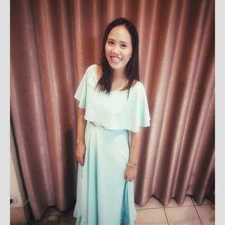 Tiffany Blue off shoulder Dress