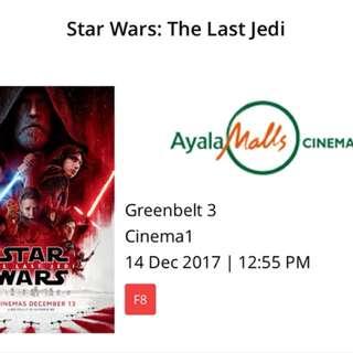 Star Wars Dec 14, 12:55 PM Greenbelt 3 screening