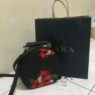 ZARA Embroider Sling Bag