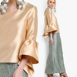 NEW LUBNA METALLIC KURUNG SET