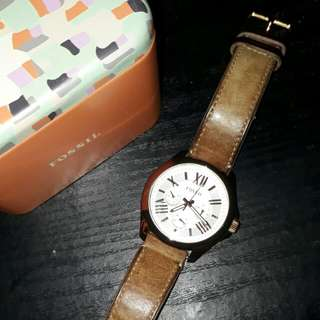Authentic Fossil Rosegold