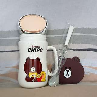 Brown Vaccum Mug Set