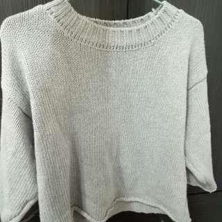 灰色針織衫(厚)