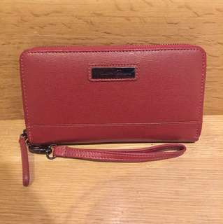 Kenneth Cole Deep Red Clutch Wallet