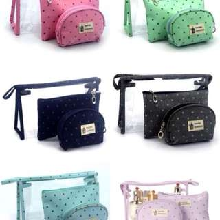 Pouch make up kit coin purse