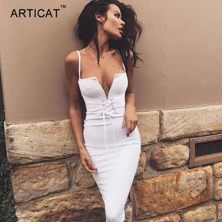 NEW Lace Up Bodycon Dress