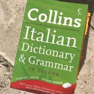 Collins Italian dictionary &a grammar yr12 HSC