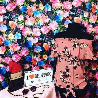 Off Shoulder Floral Top