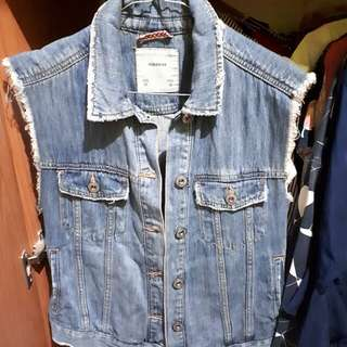 PULL & BEAR VEST OUTER JEANS 100% ORI
