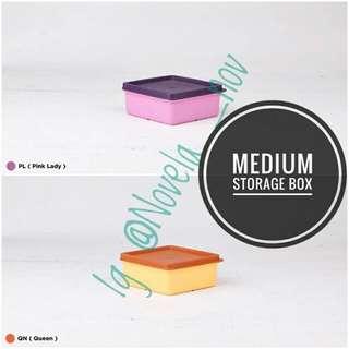 Medium storage box / tempat makan/ penyimpanan makanan/ tembat bekal/ wadah bekal 30%off