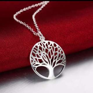 Silver plated TREE of life necklace