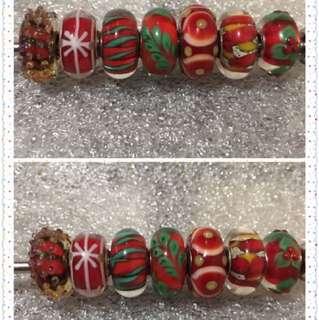 Trollbeads 聖誕套裝珠 一套7粒