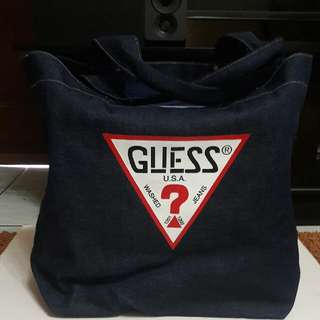 Guess Denim Shoulder Bag