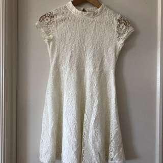 Bardot Junior White Lace Dress (12)