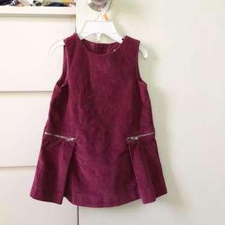 Zara Corduroy Girl Shift Dress