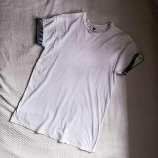 Topman White Shirt with Tribal Sleeve Folds