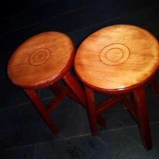 早期台灣檜木 圓板凳 古董椅頭#舊愛換新
