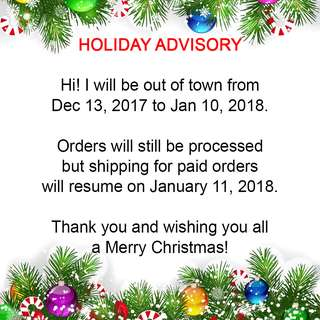 Holiday Advisory