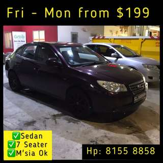 Weekend Car Rental @ $199