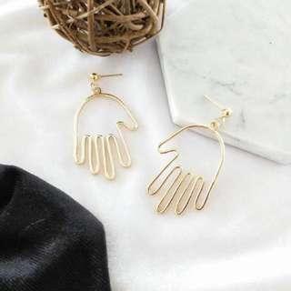 Outlined Hand Earrings