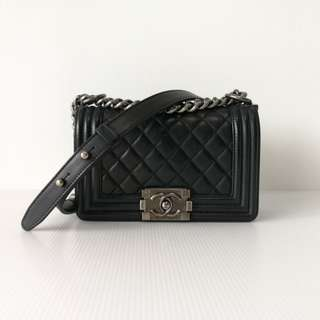 Authentic Chanel Small Boy
