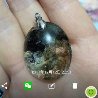 黑髮晶與貝殼共生晶(非常特别)