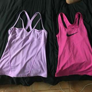 Lorna Jane and Nike tops size small