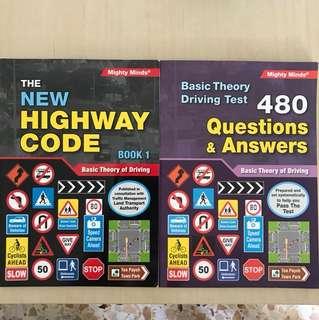 Basic Theory Driving Test (BTT) handbooks