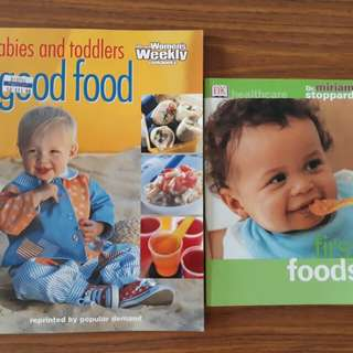 2 for $12: first foods book, babies and toddlers good food by The Australian Women's Weekly cookbooks