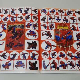 Spiderman coloring book & stickers