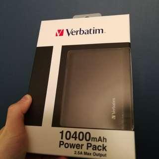 verbatim power bank 充電
